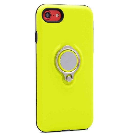 Apple iPhone 8 Kılıf Ring Youyou Kapak Sarı