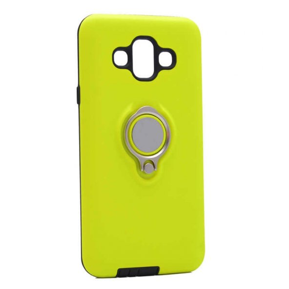 Samsung Galaxy J7 Duo Kılıf Ring Youyou Kapak sarı