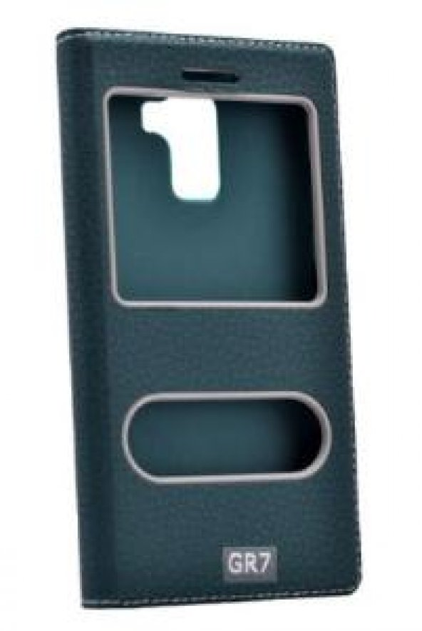 Huawei Honor 7 Kılıf Dolce Case kapaklı yeşil
