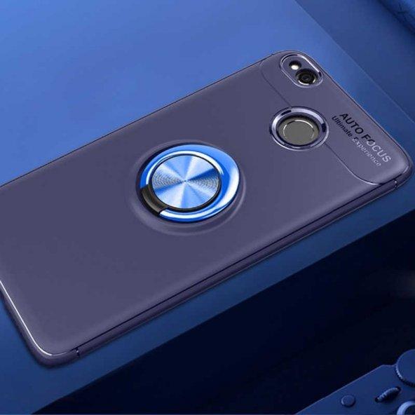 Huawei P9 Lite 2017 Ravel Silikon Kılıf kapak Mavi