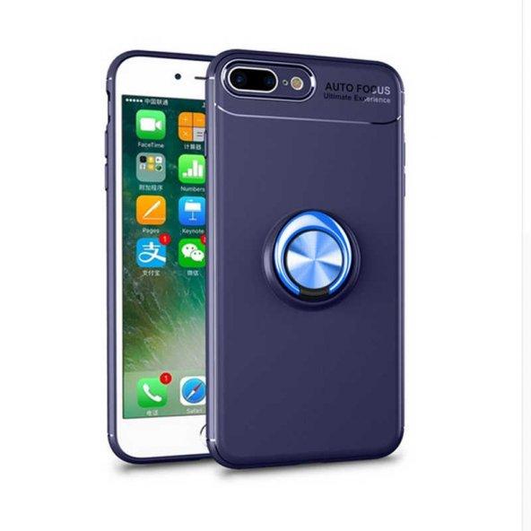 Apple iPhone 8 Plus Ravel Silikon Kılıf Kapak Mavi