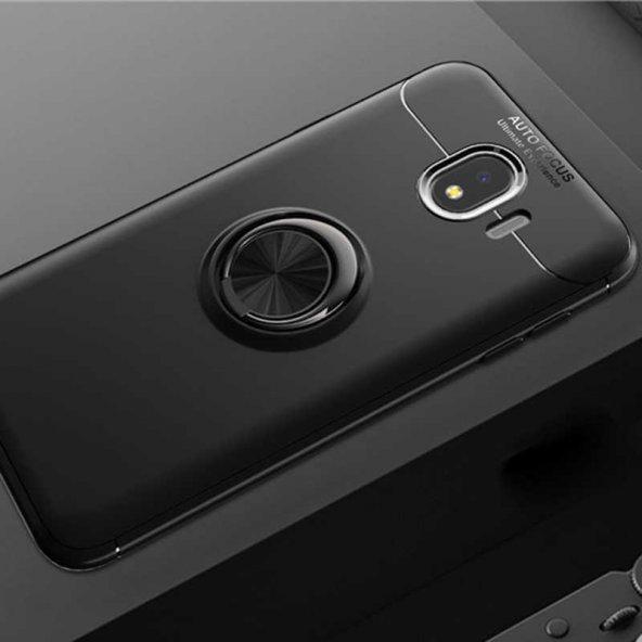 Samsung Galaxy J4 Ravel Silikon kapak Kılıf Siyah