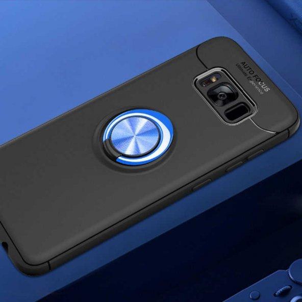 Samsung Galaxy S8 Ravel Silikon Kapak Kılıf Siyah-Mavi