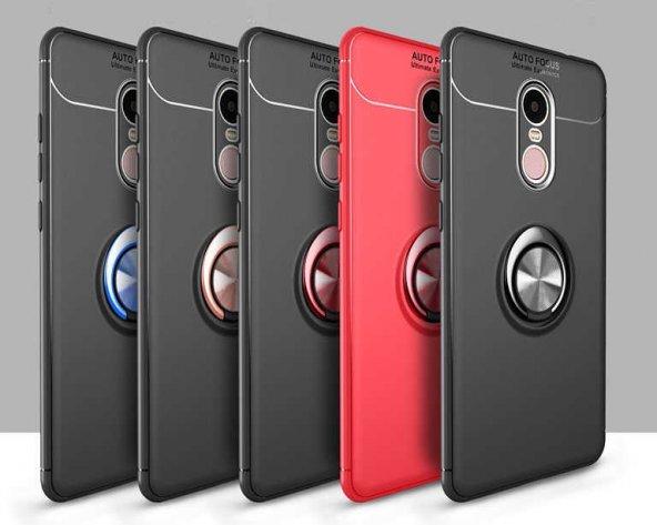 Xiaomi Redmi Note 4X Ravel Silikon Kılıf kapak Siyah-Kırmızı