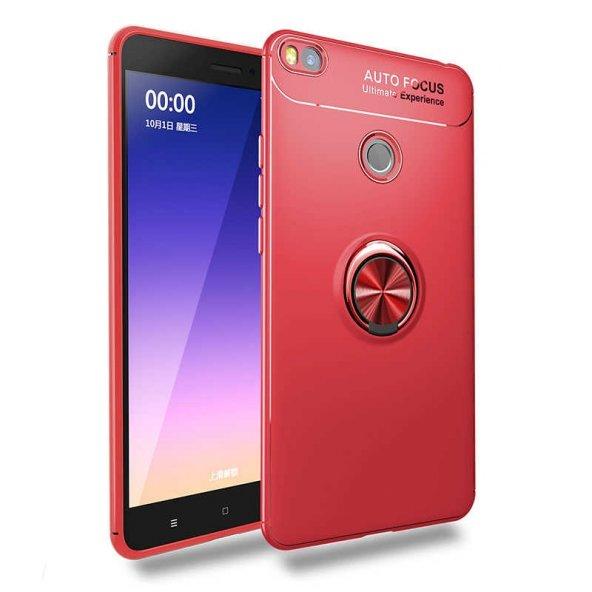 Xiaomi Mi Max 2 Ravel Silikon kılıf kapak kırmızı