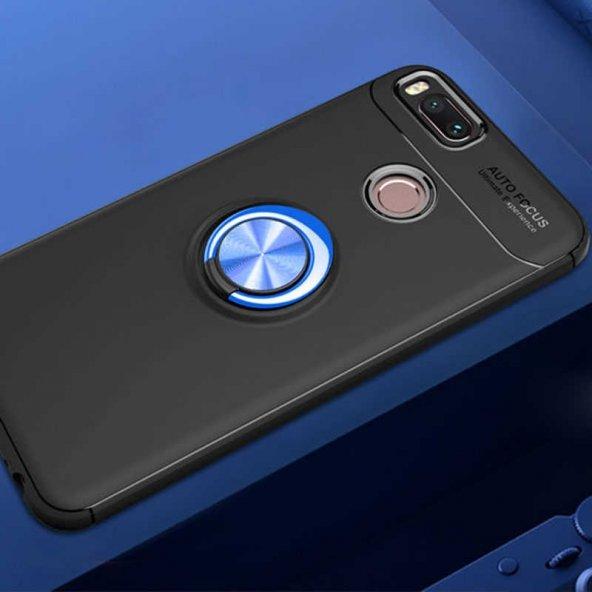 Xiaomi Mi 5X Ravel Silikon Kapak Kılıf Siyah-Mavi