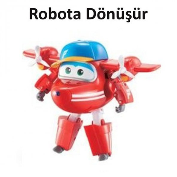 Harika Kanatlar Flip Robota Dönüşen Figür - 13 cm