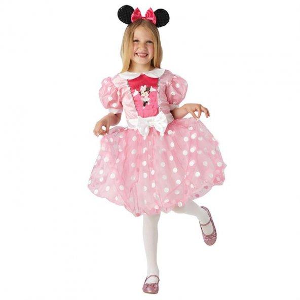 Minnie Mouse Kostüm Pembe Glitz 7-8 Yaş
