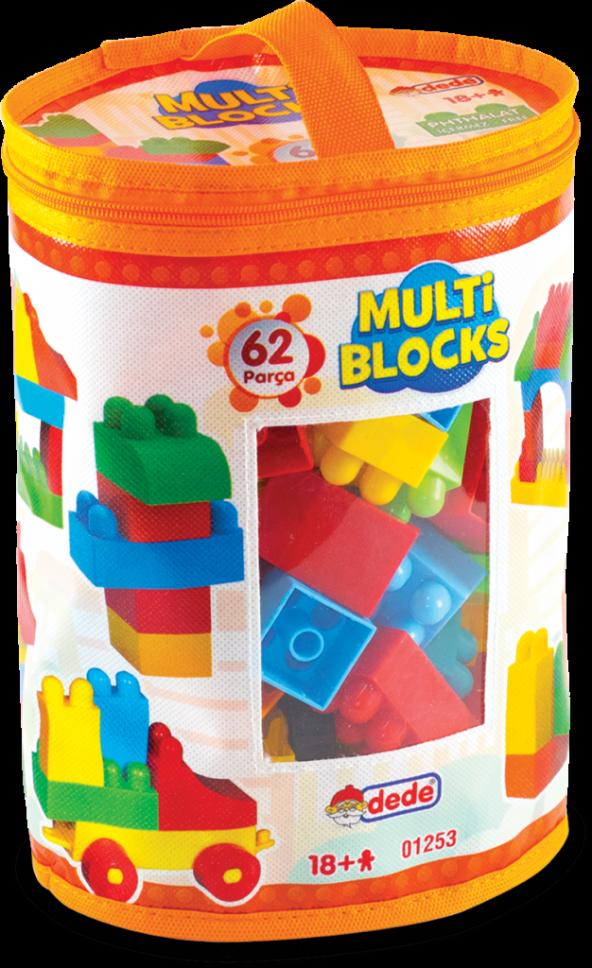 Multi Blocks 62 Parça 01253 Yapım Oyuncakları Blokları Dede