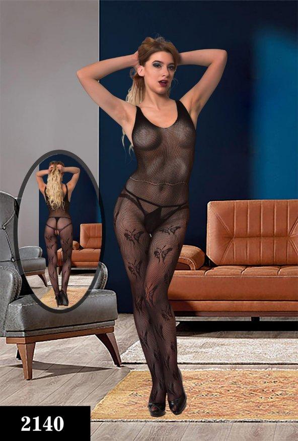 Dream Night 2140 Fantezi Vücut Çorabı Siyah Stn