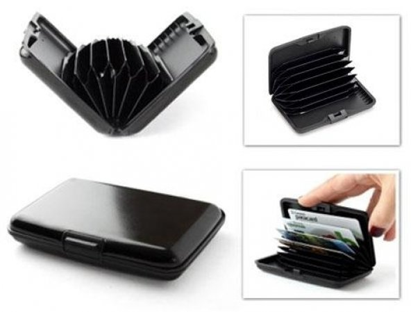 Metal Kredi Kartlık - Siyah