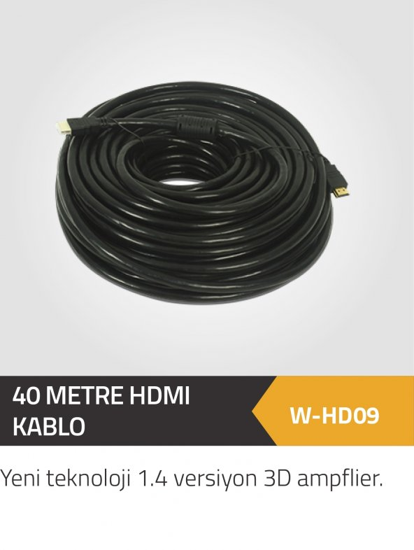 40 METRE HDMI 1.4 VERSİYON 4K BAKIR KABLO