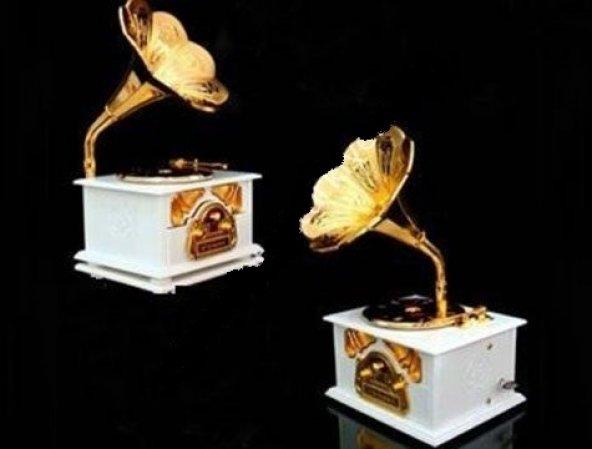 Gramofon Müzik Kutusu Nostaljik Müzik Kutusu