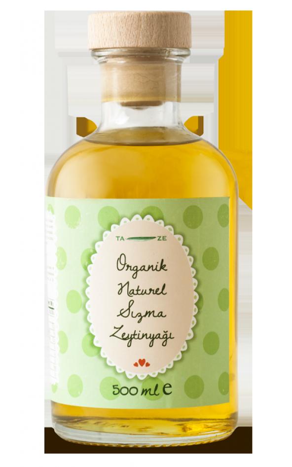 Ta-Ze Organik Natürel Sızma Zeytinyağı 500 ml