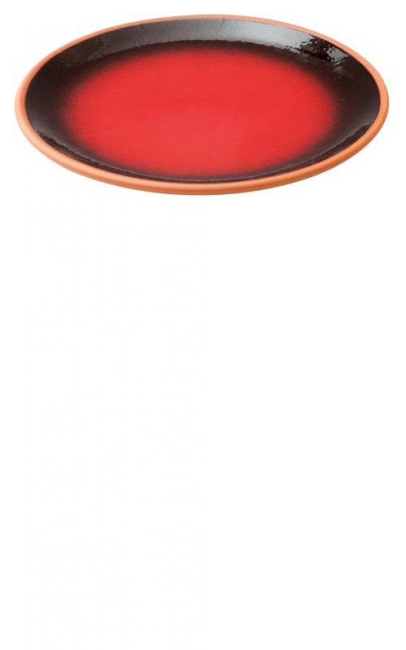 Ta-Ze Toprak Düz Tabak - Kırmızı