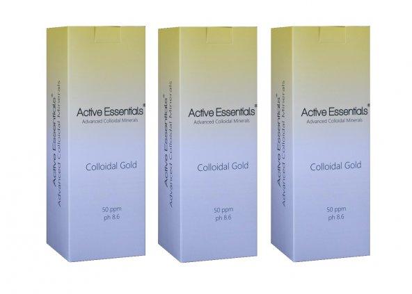 Altın Suyu Active Essentials Kolloidal 50ppm 500ml 3'lü Avantaj Paketi