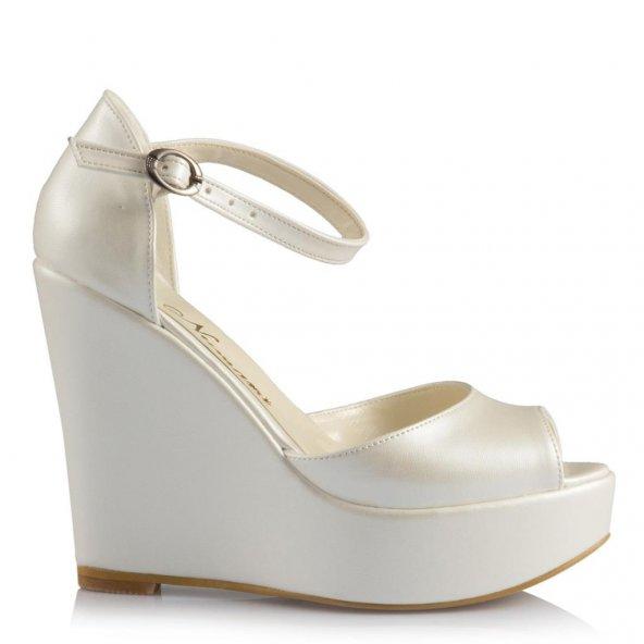 Gelin Ayakkabısı Dolgu Topuklu Model