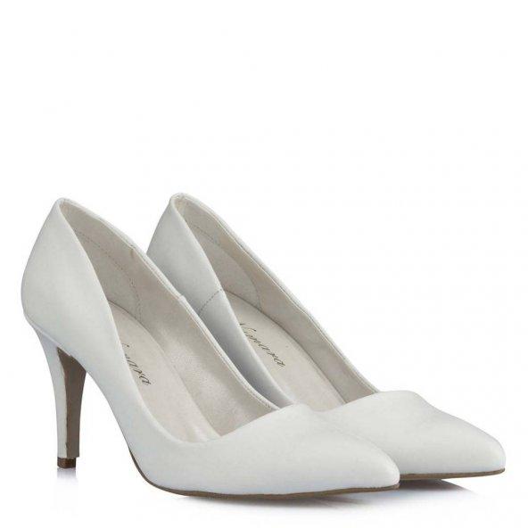 Gelin Ayakkabısı Beyaz   Stiletto