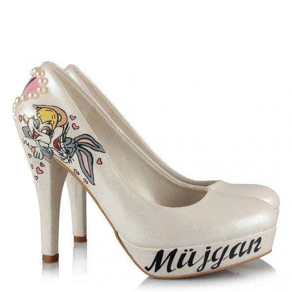 Gelin Ayakkabısı Bugs Bunny Tasarım