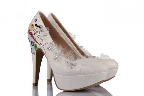 Evli Gelin Damat Tasarımı Gelinlik Ayakkabı