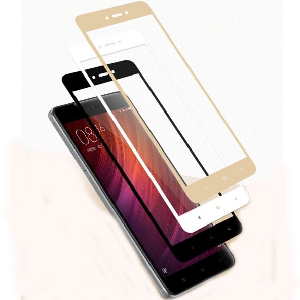 Xiaomi Redmi 4x Tam Ekran 3D Cam Kırılmaz Full 3D Cam