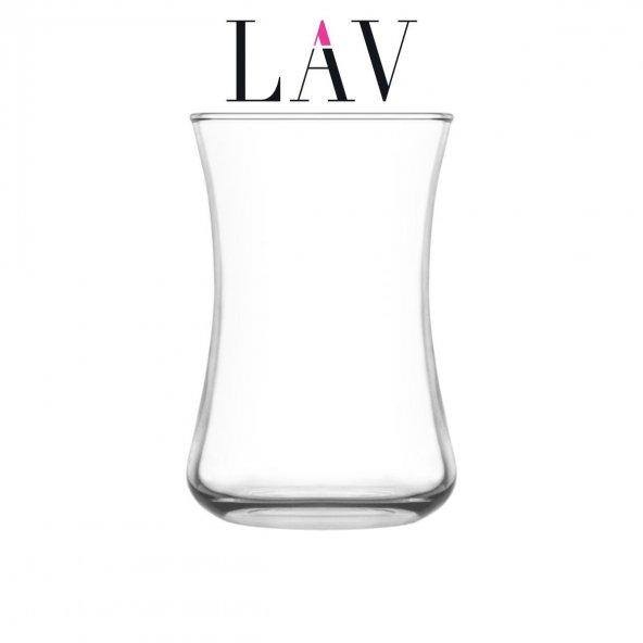 LAV 6lı DURU DUR 306 155cc Geleneksel Şıklık Taşıyan Çay Bardağı