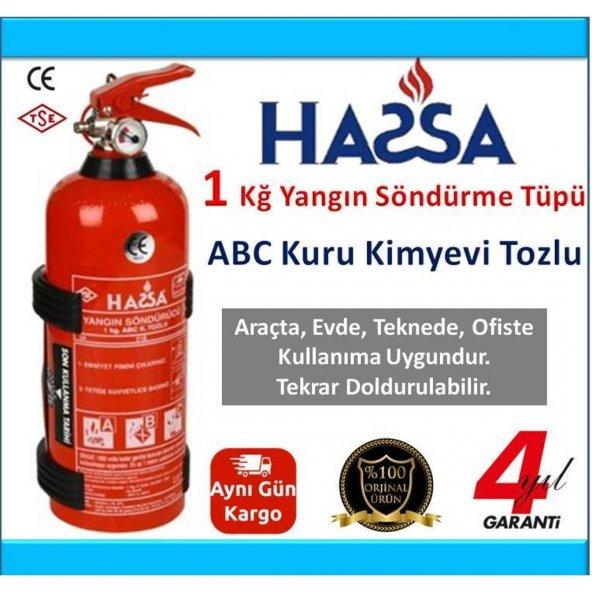 1 Kg Yangın Söndürme Tüpü ABC Tozlu - 4 YIL GARANTİ ASKILIKLI