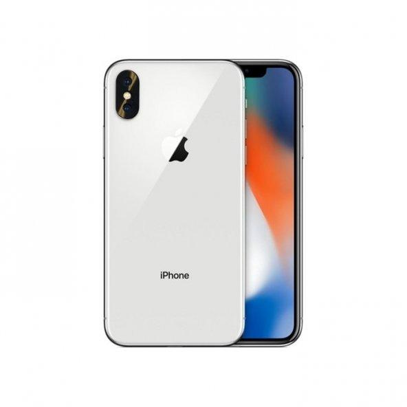 Apple iPhone X Metal Siyah Kamera Lens Koruyucu