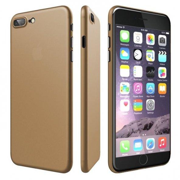 Apple iPhone 8 Plus Ultra İnce Gold Kılıf Arka Koruyucu Kapak