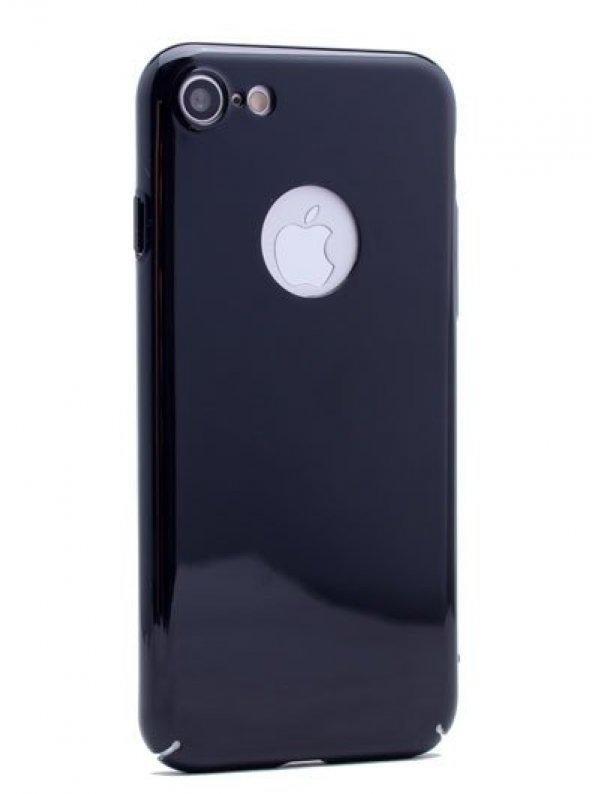 iPhone 5S Kılıf Cherry Düğme Korumalı Arka Kapak Siyah + Kırılma