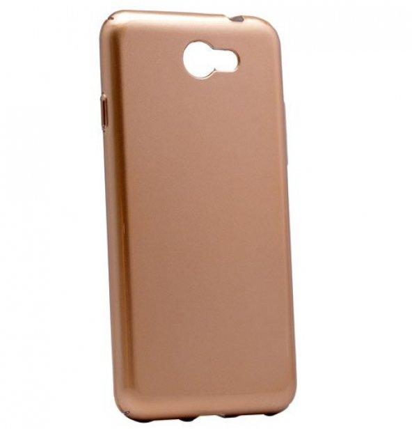 General Mobile GM6 Kılıf Cherry Kapak Gold + Kırılmaz Cam Ekran K