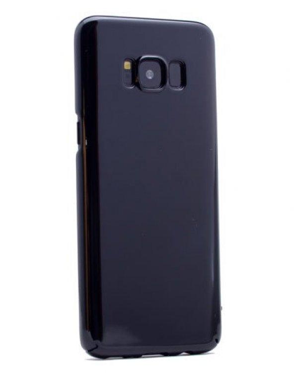 Samsung Galaxy S8 Plus Kılıf Cherry Kapak Siyah + Eğimli Ped Ekra