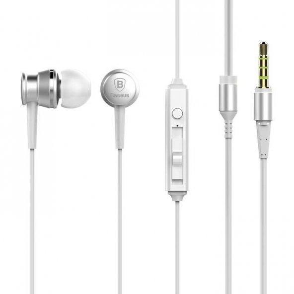 Baseus Lark Wired Beyaz Kulak İçi Kulaklık