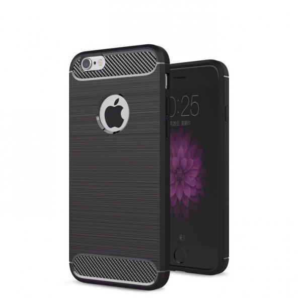 Apple iPhone 6 6S Karbon Army Room Silikon Kılıf Arka Koruyucu Ka