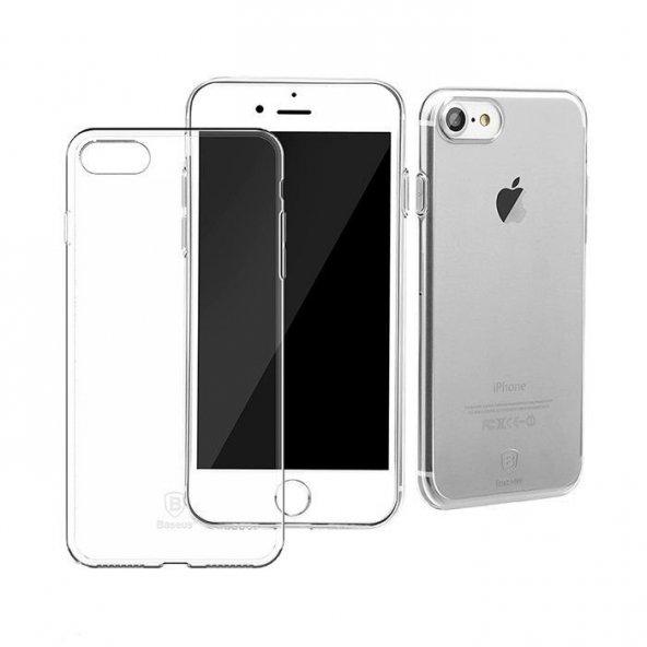Baseus Simple Şeffaf iPhone 7 - 8 Kılıf Arka Koruyucu Kapak