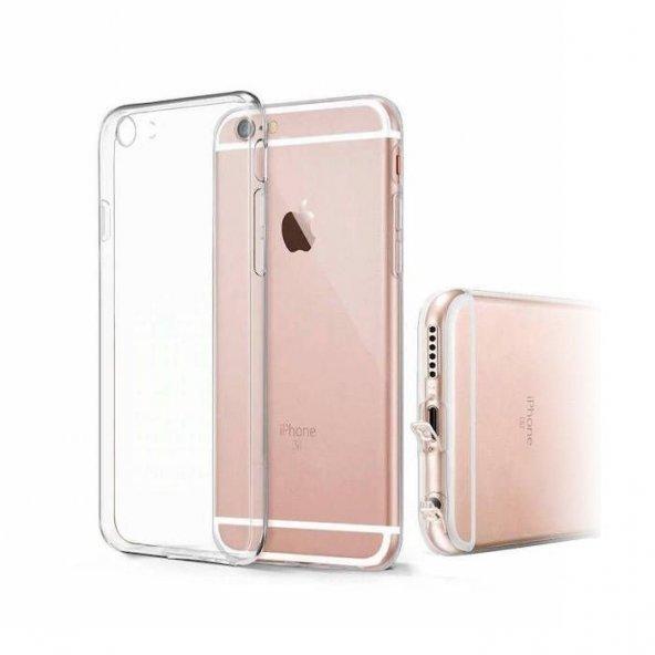 Apple iPhone 6 6S Şeffaf Silikon iMax Kılıf Arka Koruyucu Kapak