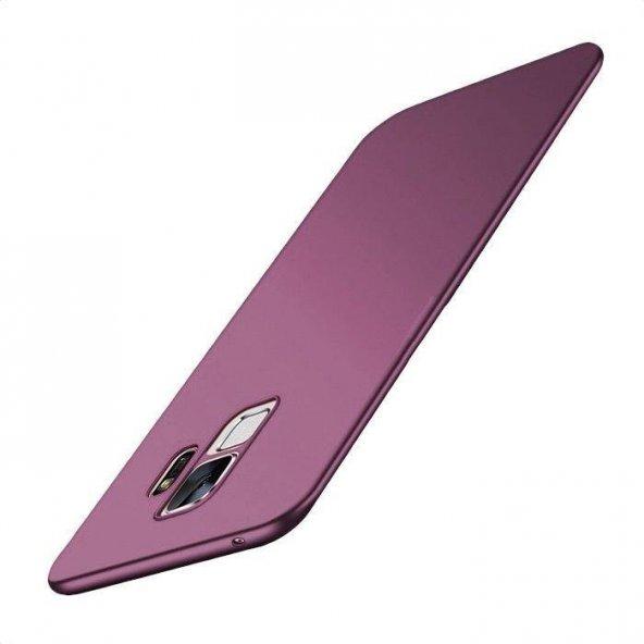 Samsung Galaxy S9 Soft Mor Silikon Kılıf Arka Koruyucu Kapak