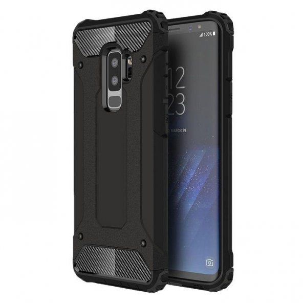 Samsung Galaxy S9 Plus Shield Siyah Kılıf Arka Koruyucu Kapak