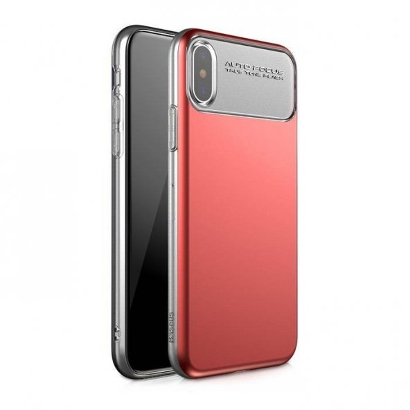 Baseus Lotus iPhone X Kırmızı Kılıf Arka Koruyucu Kapak