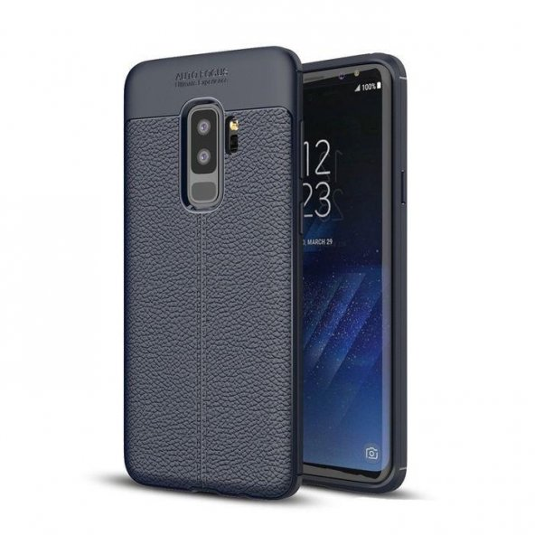 Samsung Galaxy S9 Plus Silikon Lacivert Kılıf Arka Koruyucu Kapak