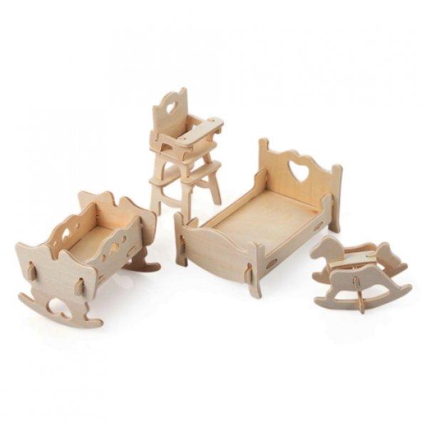 3D Ahşap Puzzle - Çocuk Odası