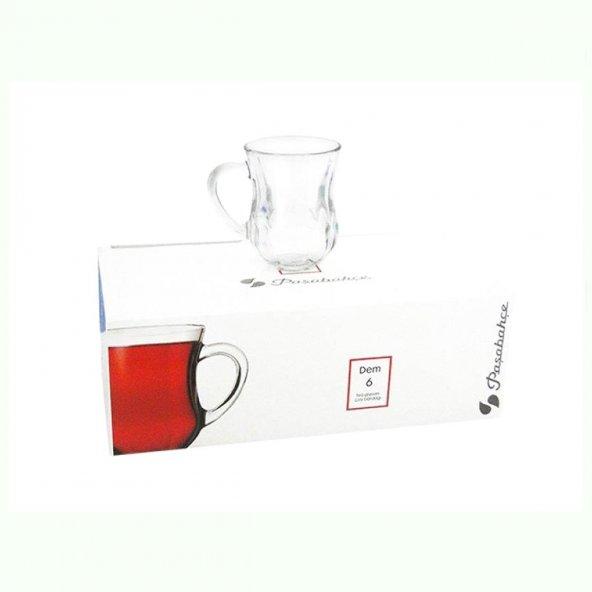 Paşabahçe 6Lı Dem Kulplu Çay Ve Su Bardağı 55373 Kalteli Cam Ürün