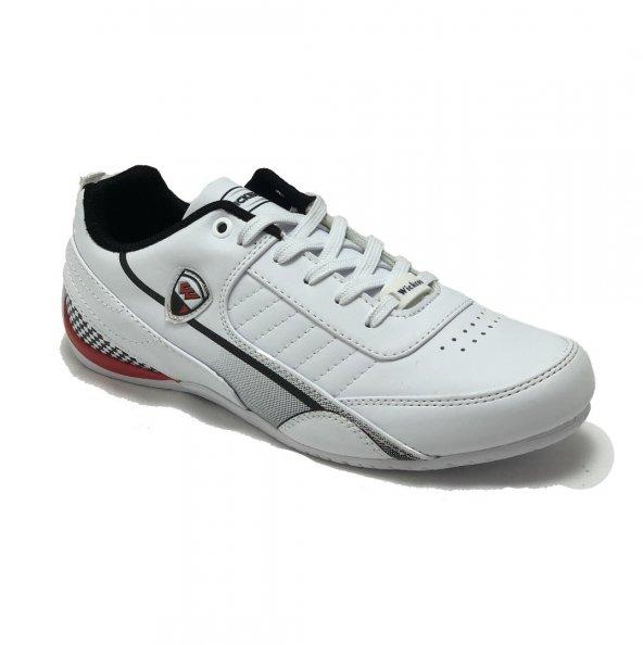 Wickers Beyaz  Kırmızı Erkek Spor Ayakkabı