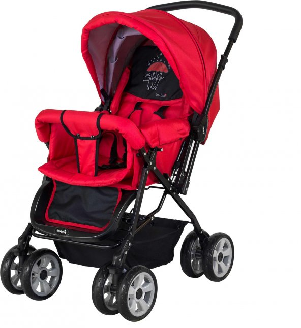 Crystal Baby 212 Mega Çift Yönlü Bebek Arabası - Kırmızı