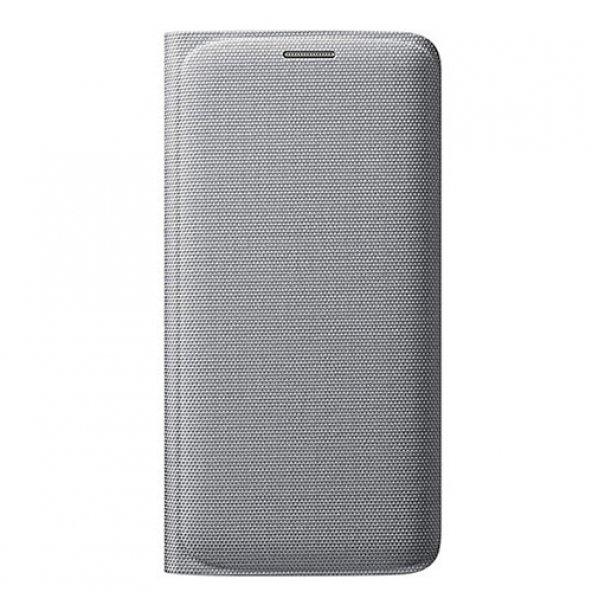 Samsung Galaxy S6 Edge Orjinal Flip Wallet (Tekstil) - Gri EF-WG9