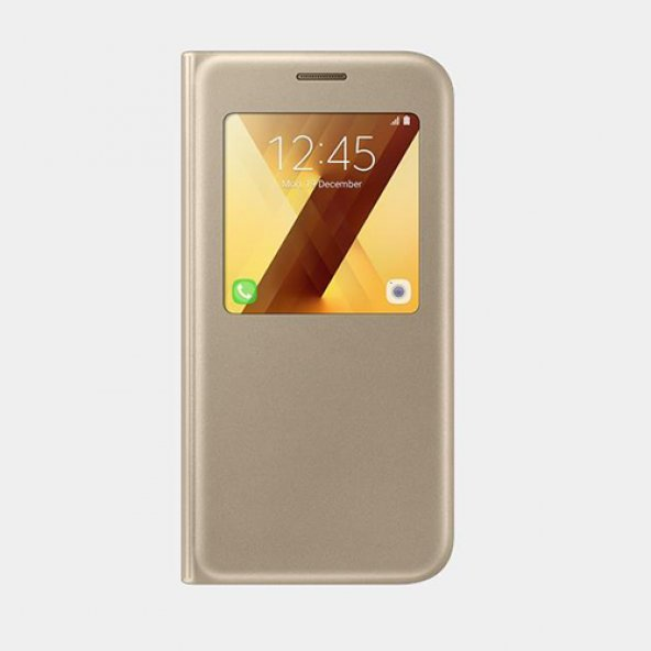 Samsung Galaxy A5(2017) Orjinal S-View Cover - Altın EF-CA520PFEG