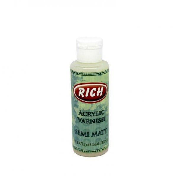 Rich Su Bazlı Yarı Mat Vernik 250 ml