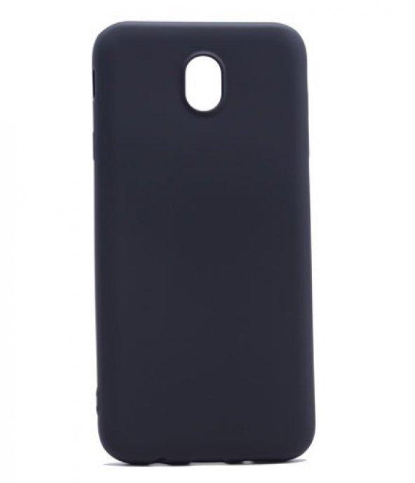 Samsung Galaxy J5 Pro Kılıf Premium Silikon Kapak Siyah + Kırılmaz Cam Ekran Koruyucu