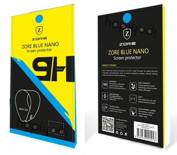 Motorola E4 Plus Ekran Koruyucu Blue Nano Temperli Kırılmaz Cam