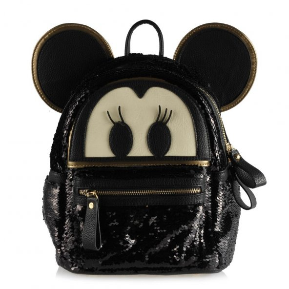 Sırt Çantası Siyah Mickey Mouse Pullu